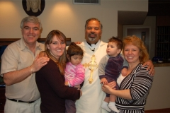 Father Jay with the family