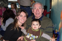 Daniela, Great Grandpa Giuseppe, and Alonzo