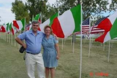 Raffaele & Carmela in the Northglenn 9-11 Memorial