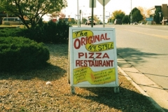 Original Pizza first A-Frame sign