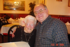 Grandma Ceccarelli & Father Mac